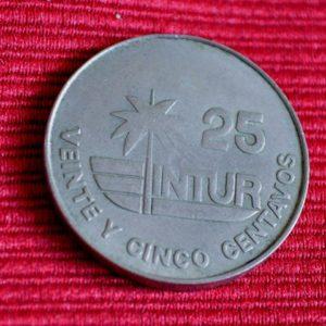 LG-224 Cuba 25 Centavos INTUR 1981