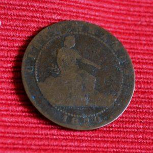 LG-235 España Cinco Centimos 1870