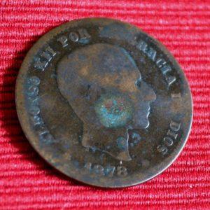 LG-236 España Cinco Centimos 1878