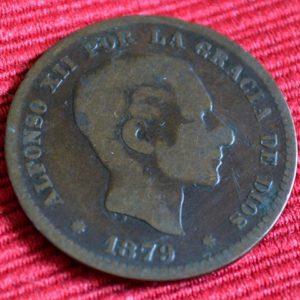 LG-237 España Cinco Centimos 1879