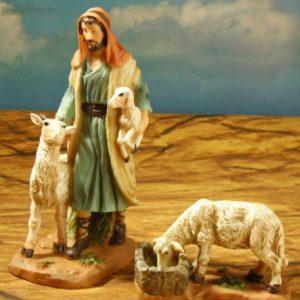 FA-028 Pastor con 2 Ovejas 13 cm/5.1″ 063-490140