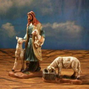 FA-032 Pastor con 2 Ovejas 20cm/ 7.8″ 063-490141