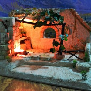 PS-020 Pesebre con Pozo Fig. 13 cm/ 5.1-5.85″
