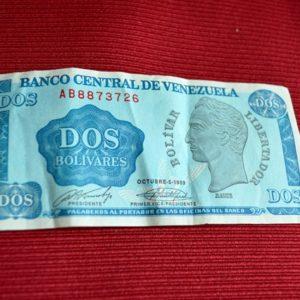 LG-287 Vzla Billete 2 Bolívares 1989